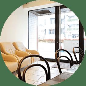 カフェのような待合室